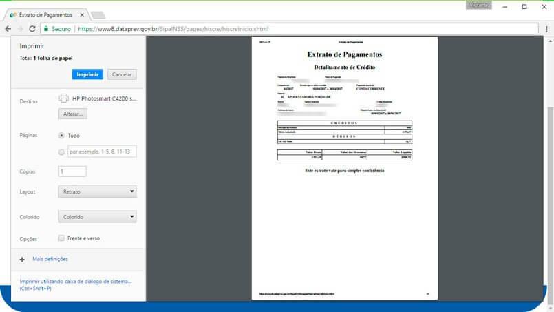Extrato de pagamentos passo 4